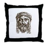 Jesus Face V1 Throw Pillow