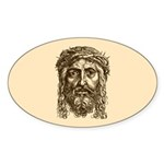 Jesus Face V1 Sticker (Oval 50 pk)