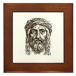 Jesus Face V1 Framed Tile
