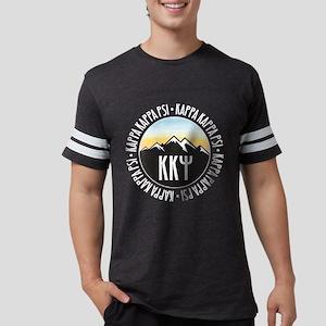 KKP Mountain Sunset Mens Football T-Shirts