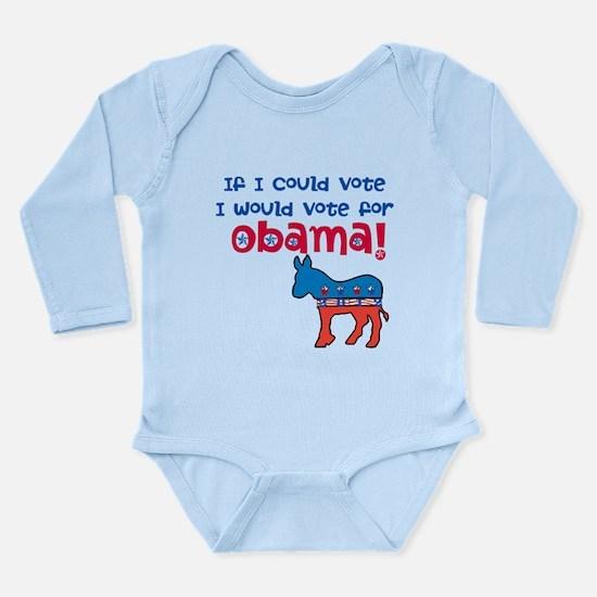 If I Could Vote Long Sleeve Infant Bodysuit