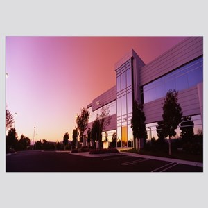 Low angle view of a building at dawn, Silicon Vall
