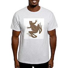 Brown Frog Ash Grey T-Shirt