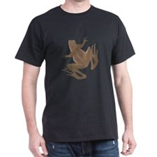 Brown Frog Black T-Shirt
