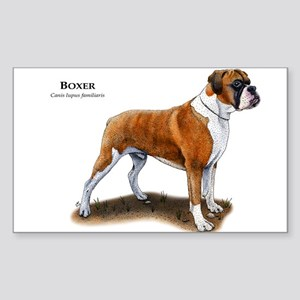 Boxer Sticker (Rectangle)