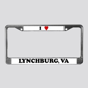 I Love Lynchburg License Plate Frame