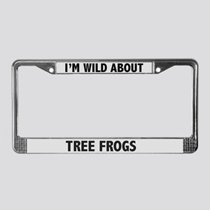 Wild About Tree Frogs License Plate Frame