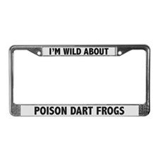 Wild About Poison Dart Frogs License Plate Frame