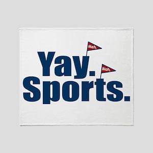 Yay Sports Meh Throw Blanket