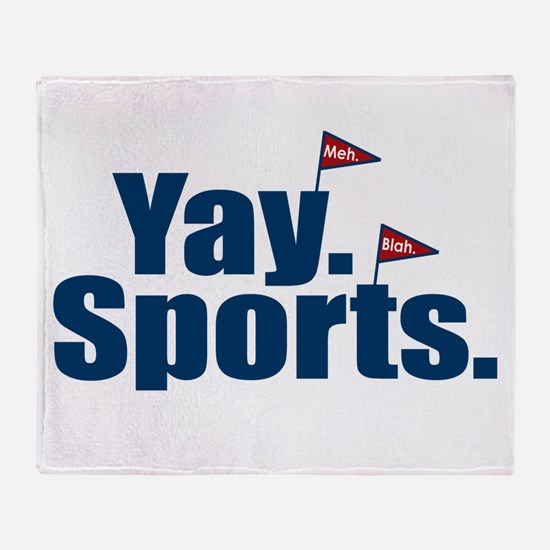 Yay Sports Meh Throw Blanket