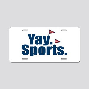 Yay Sports Meh Aluminum License Plate