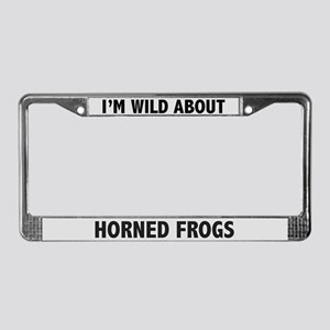 Wild About Horned Frogs License Plate Frame