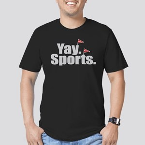 Yay Sports Meh Men's Fitted T-Shirt (dark)