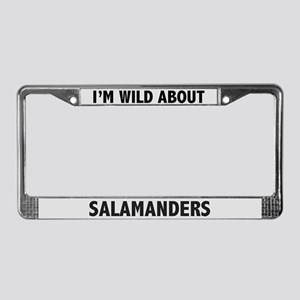Wild About Salamanders License Plate Frame