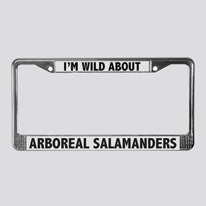 Wild About Arboreal Salamander License Plate Frame