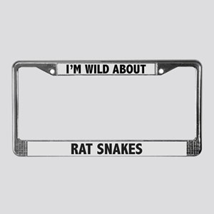 Wild About Rat Snakes License Plate Frame