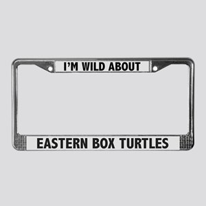 Wild About Eastern Box Turtles License Plate Frame