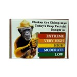 Chokey the Chimp Rectangle Magnet (100 pack)