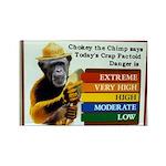 Chokey the Chimp Rectangle Magnet (10 pack)