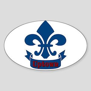 Uptown Fleur De Lis Oval Sticker