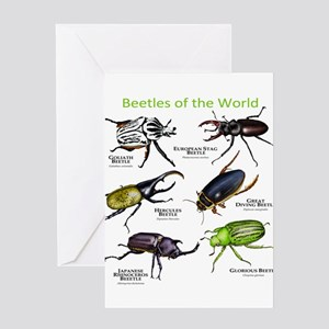 Beetles of the World Greeting Card
