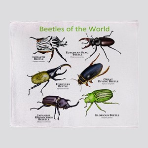 Beetles of the World Throw Blanket