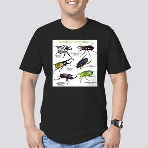 Beetles of the World Men's Fitted T-Shirt (dark)