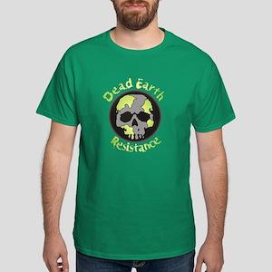 Dead Earth Resistance Skull Dark T-Shirt