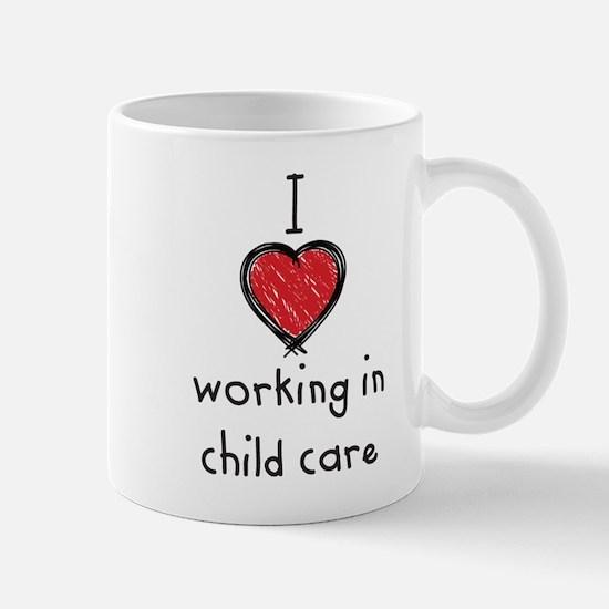 I Love working in child care Mug