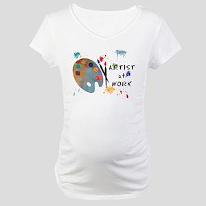 Artist At Work Maternity T-Shirt