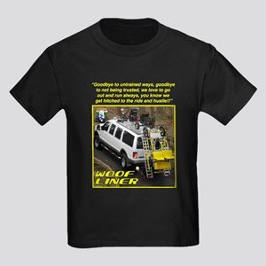 "WooFTunes ""WooFLiner"" Kids Dark T-Shirt"