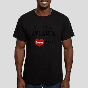 Somebody In Atlanta Loves Me Men's Fitted T-Shirt