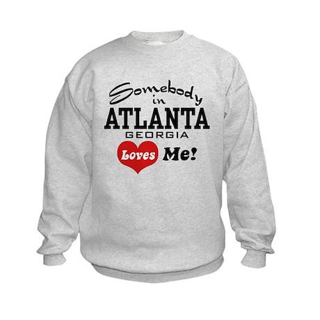 Somebody In Atlanta Loves Me Kids Sweatshirt