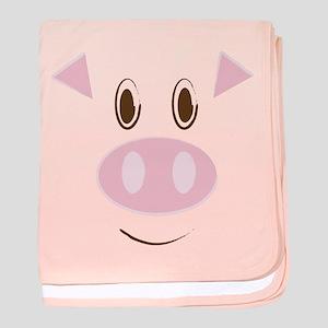 Cute Little Piggy's Face baby blanket