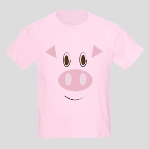 Cute Little Piggy's Face Kids Light T-Shirt