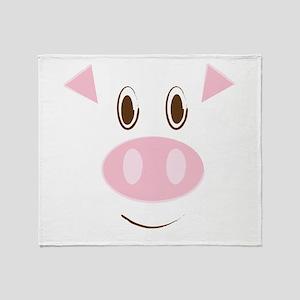 Cute Little Piggy's Face Throw Blanket