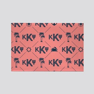 KKP Coral Pattern Rectangle Magnet