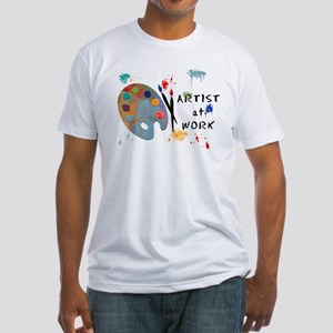Artist At Work Fitted T-Shirt