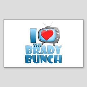 I Heart The Brady Bunch Rectangle Sticker