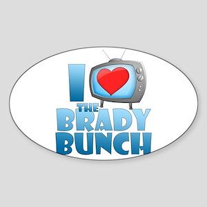 I Heart The Brady Bunch Oval Sticker