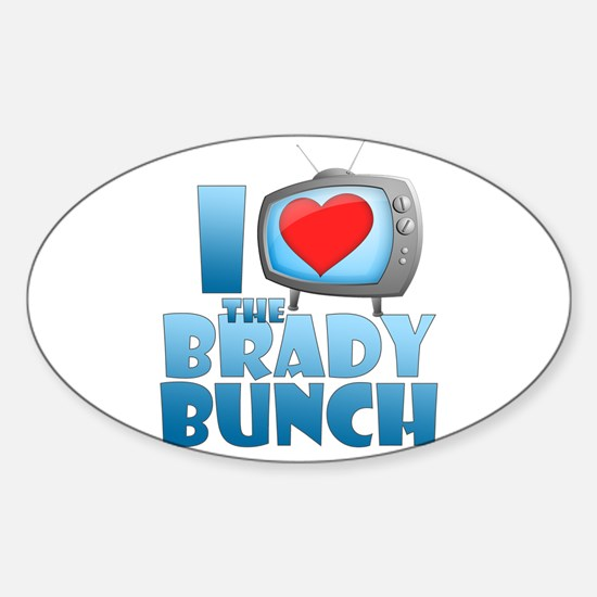 I Heart The Brady Bunch Oval Decal