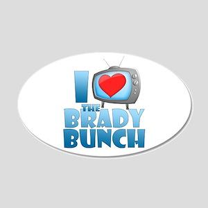 I Heart The Brady Bunch 22x14 Oval Wall Peel