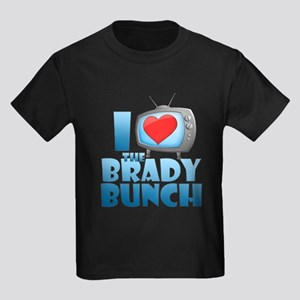 I Heart The Brady Bunch Kids Dark T-Shirt