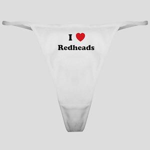 I Heart Redheads Classic Thong