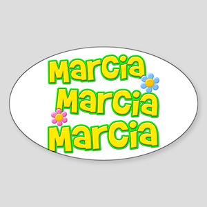 Marcia, Marcia, Marcia Oval Sticker
