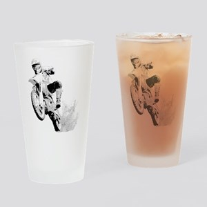 Dirtbike Wheeling in Mud Drinking Glass