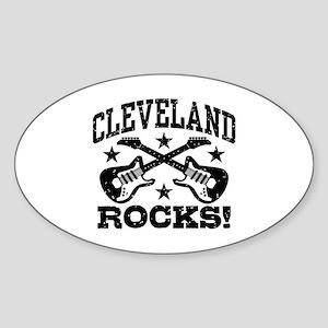 Cleveland Rocks Sticker (Oval)