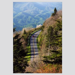 High angle view of car on Blue Ridge Parkway, Wate