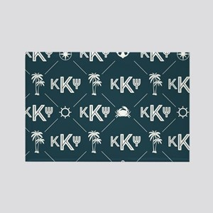 KKP Blue Pattern Rectangle Magnet