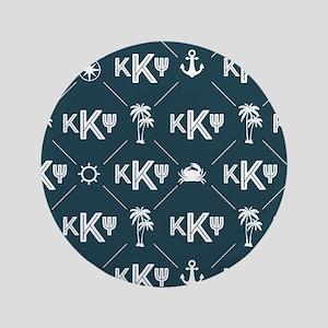KKP Blue Pattern Button